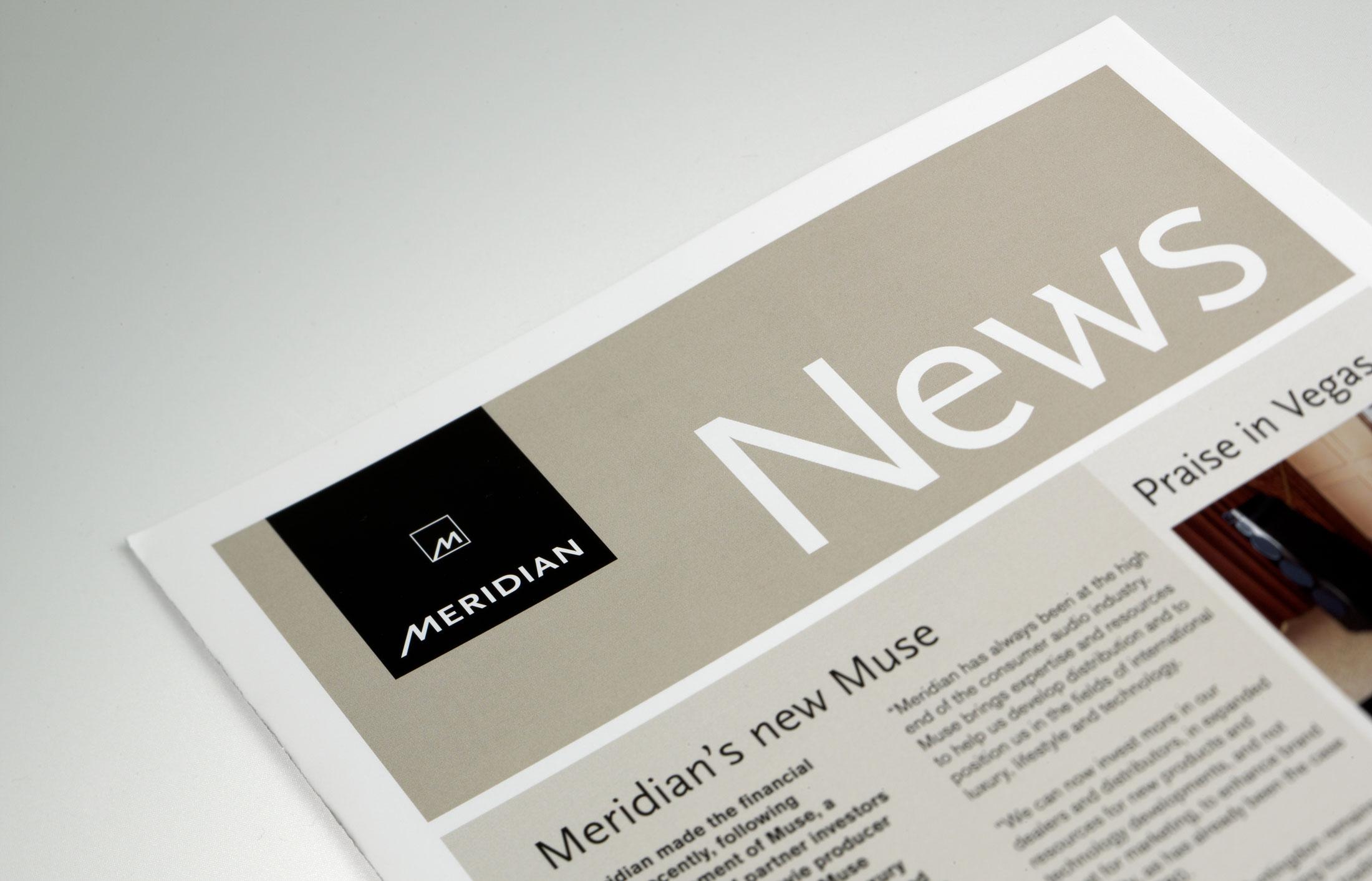 Branding identity design for Meridian Audio