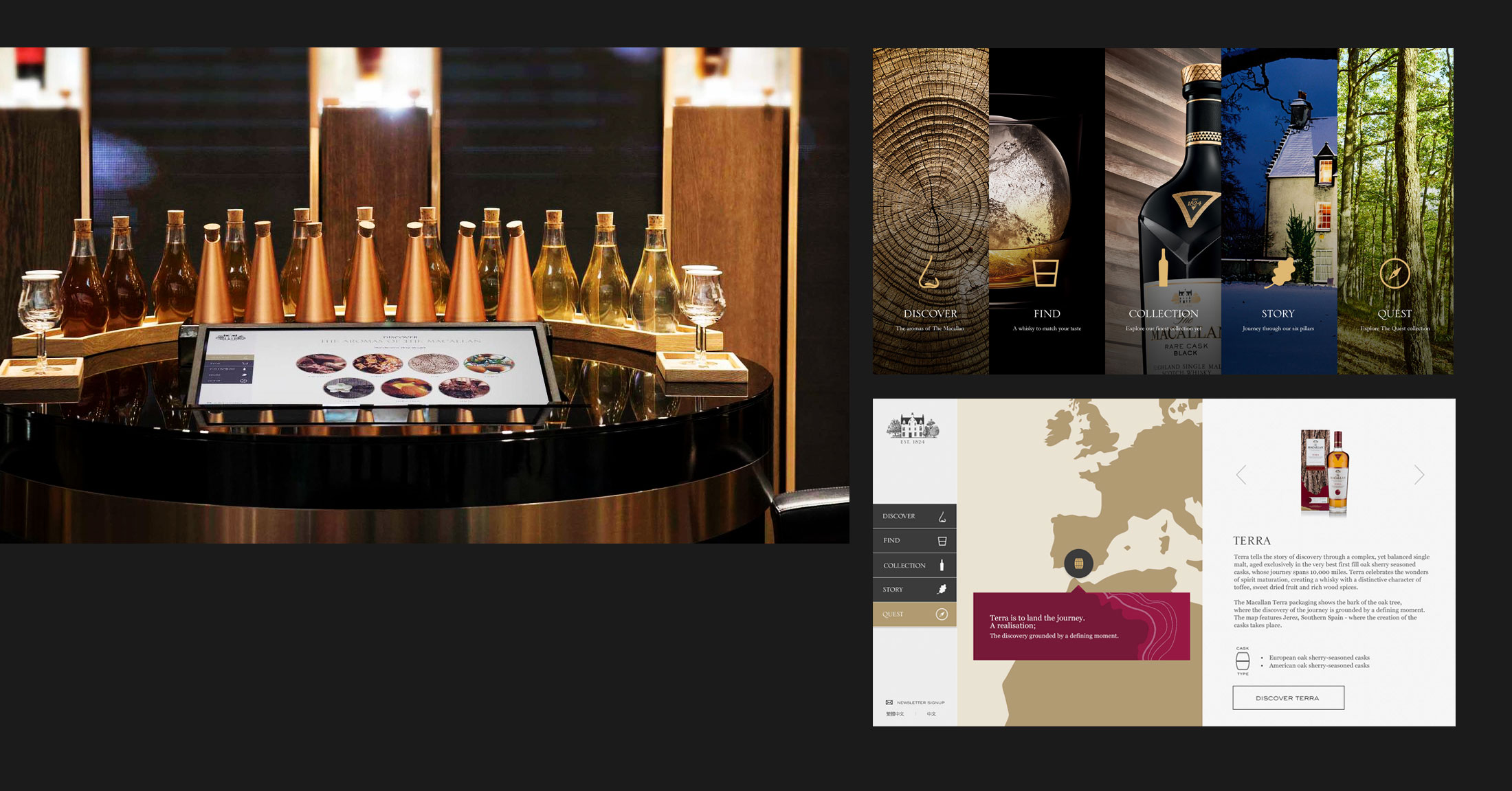 Interactive digital design for The Macallan whisky
