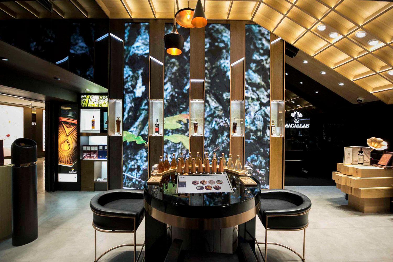 Digital shop interior design for The Macallan whisky