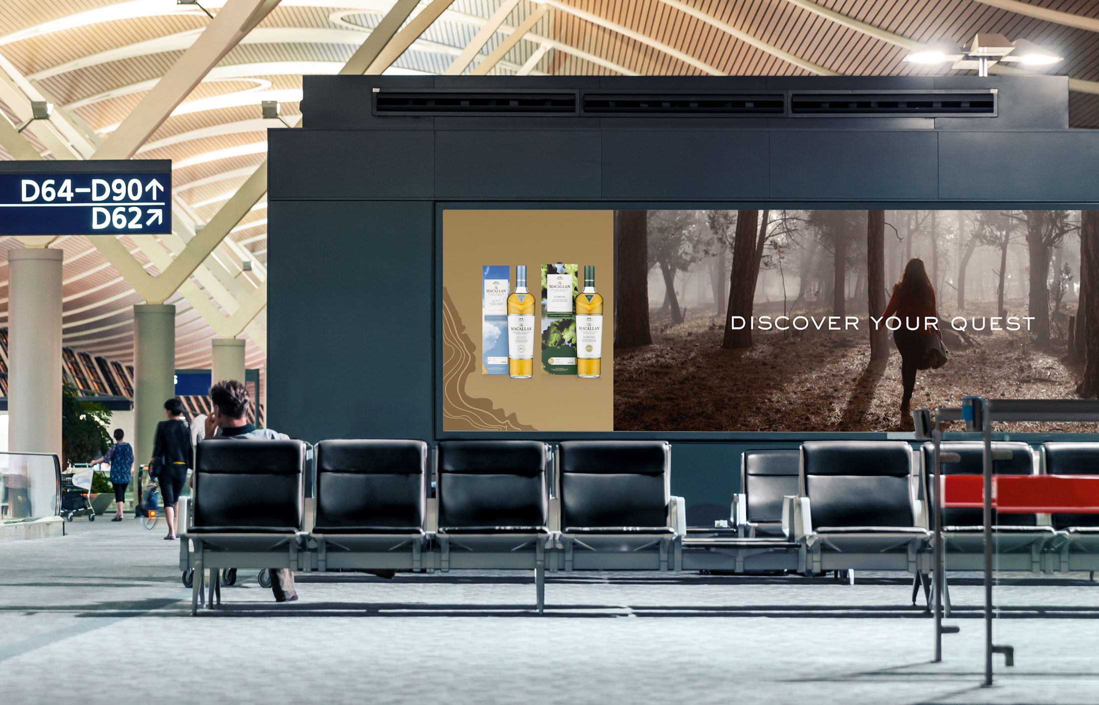 Digital OOH advertising for The Macallan whisky