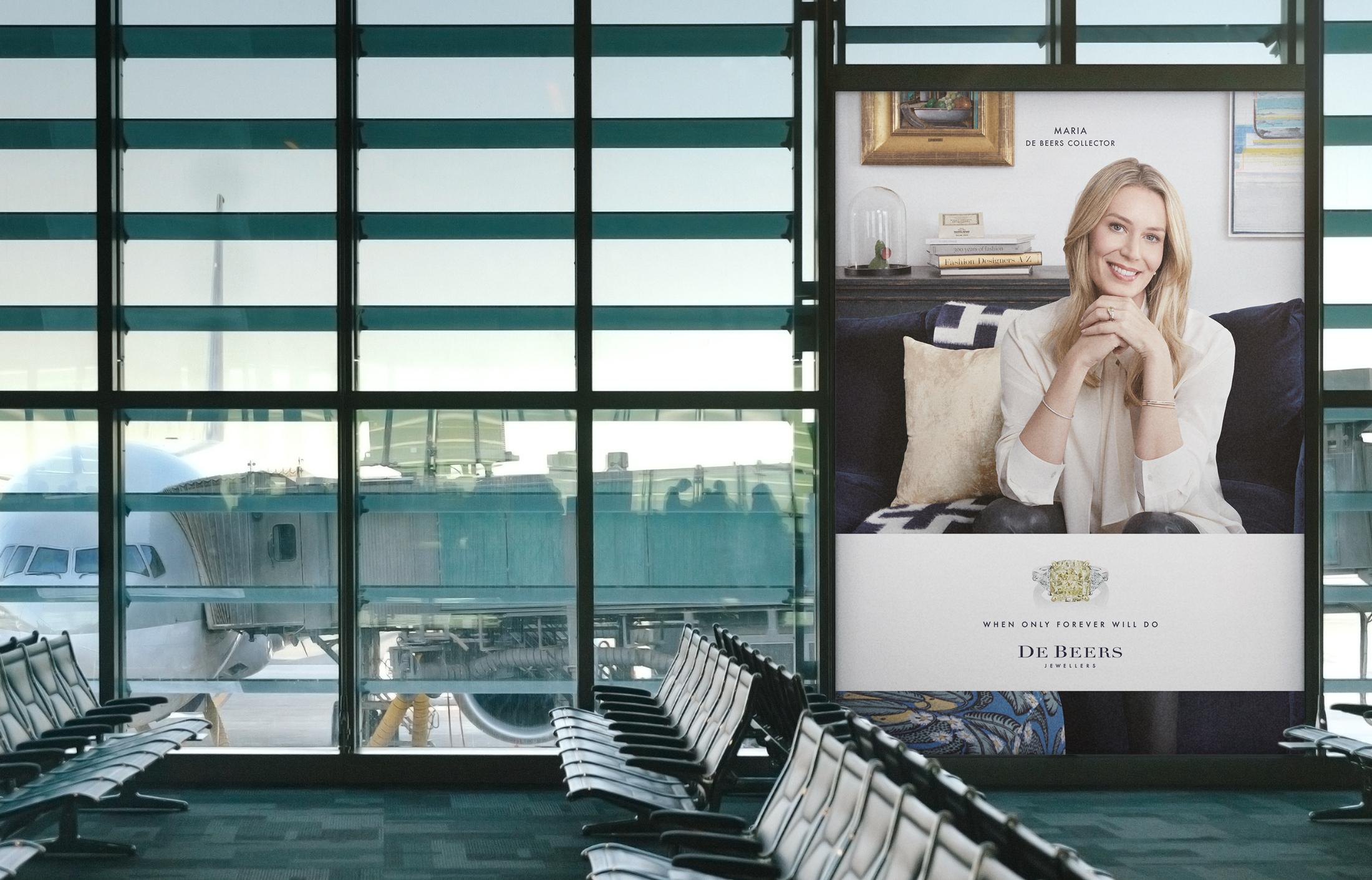 Digital OOH digital advertising campaign for De Beers Jewellers