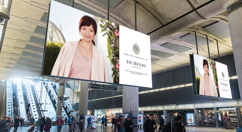 OOH advertising campaign for De Beers Jewellers