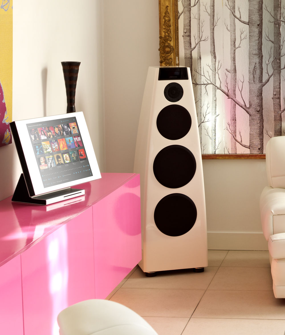 Lifestyle product photography for Meridian Audio