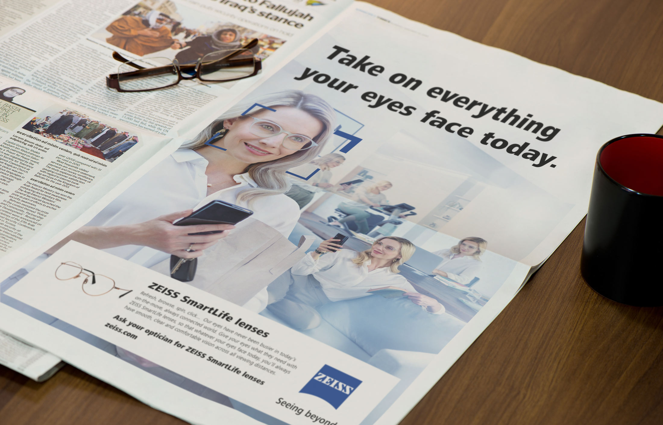 Print advertising design for Zeiss Vision Care