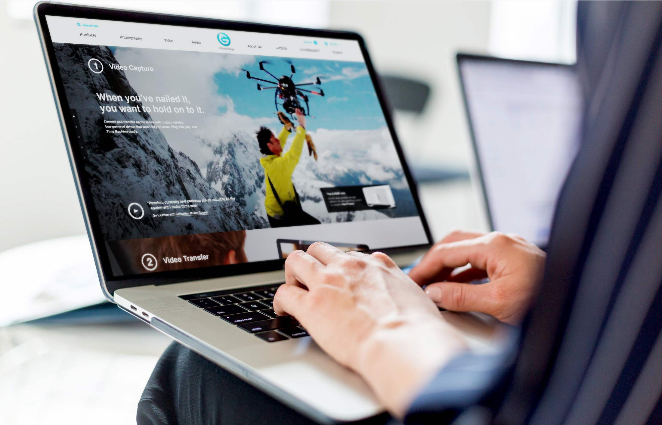 Web UX and UI design for B2C client G-Technology