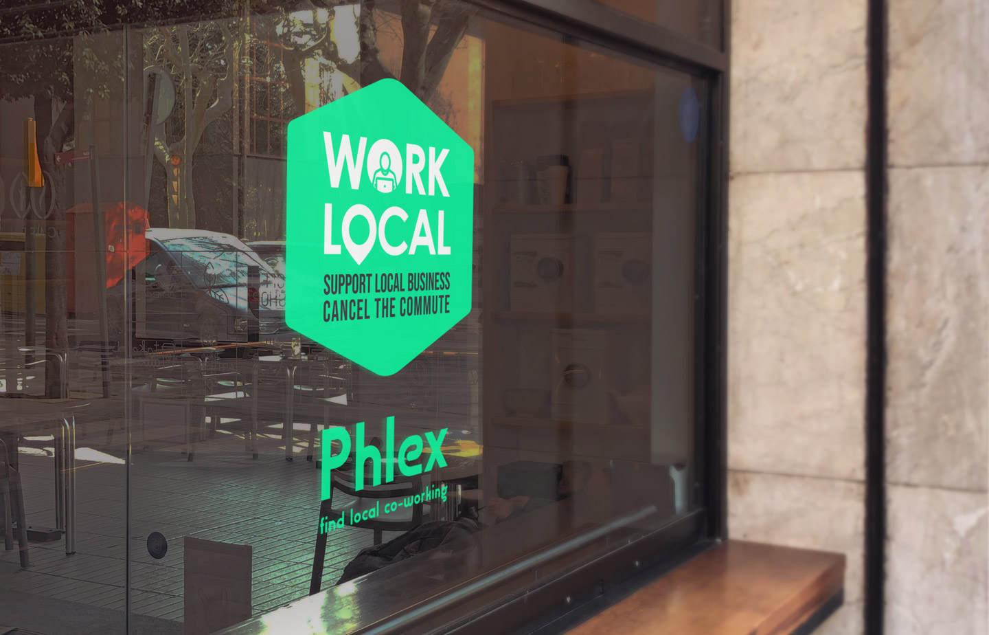 We create engaging campaigns for clients such as our 'Work local' campaign for Phlex