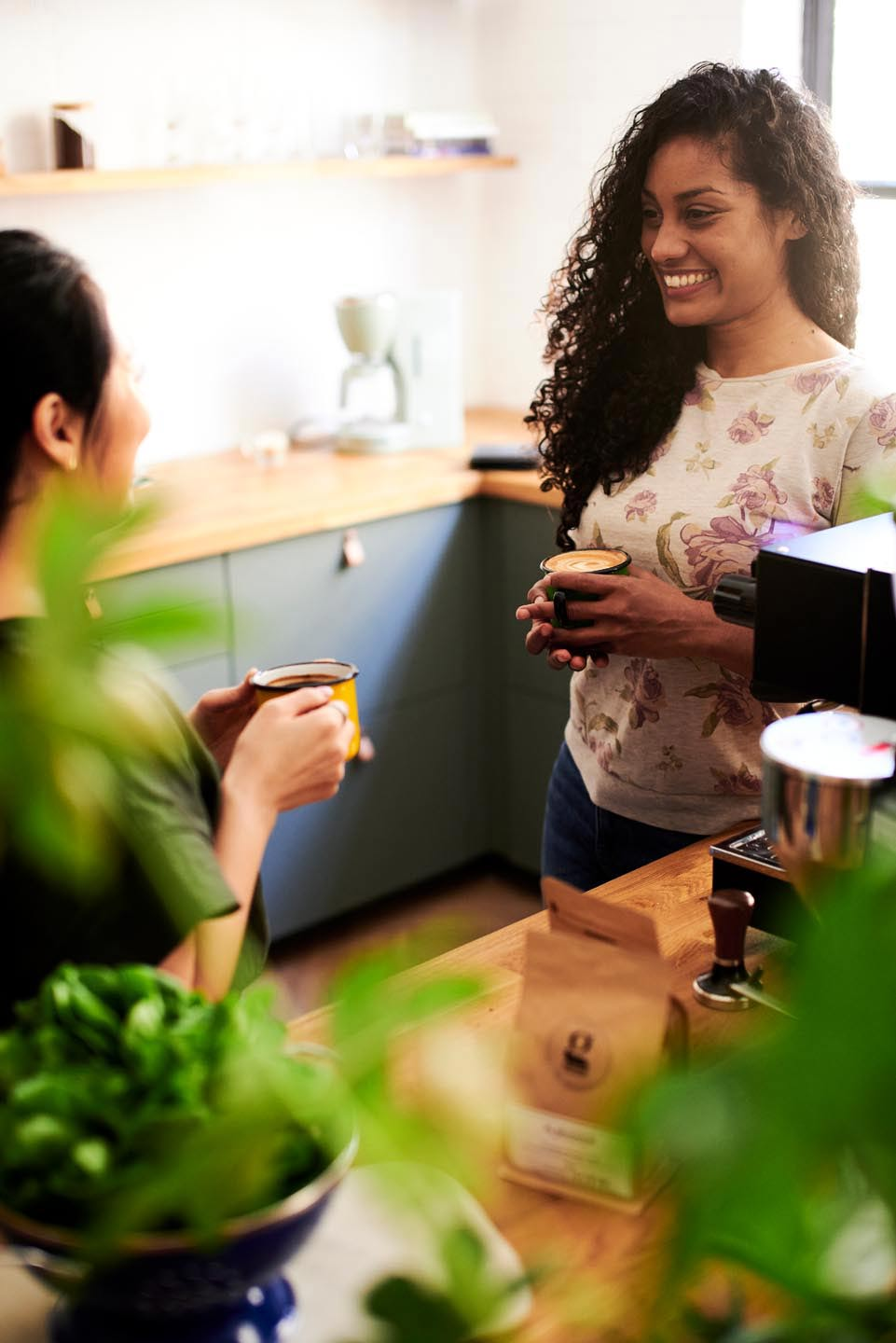 Relish Integrated Del Manning lifestyle photography brand photography two women chatting over coffee