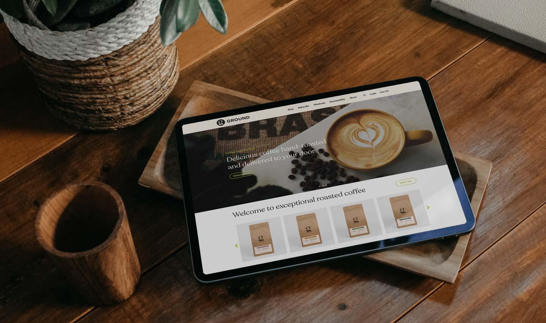 Relish Integrated website design coffee company Ground Coffee Society